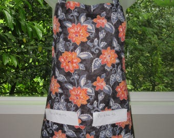 womens aprons - aprons for women - full - brilliant floral