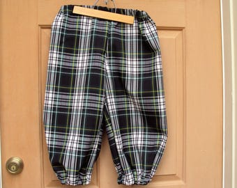 Plaid knickers, Childrens sizes, Newsies knickers, golf knickers, Halloween costume