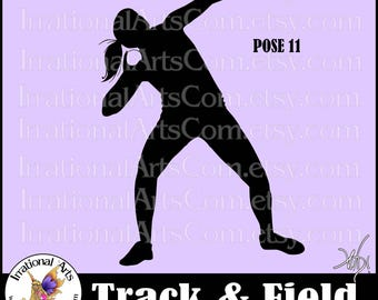 Shot Put Track and Field Pose 11 Silhouette - Vinyl Ready Image digital clipart graphic - 1 EPS 1 SVG & 1 Png (Instant Download)