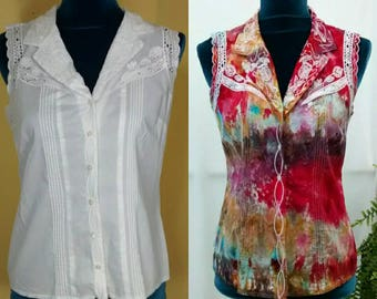 Custom Rehab Dye - I Would Dye For You - Upcycle Service for Tee Shirts Blouses Lightweight Skirts and Pants