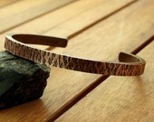 Kupfer Armreif, gehämmerter Kupfer Armreif, schwere Armspange, 6 mm, Textur, Frauen Armreif, Männer Armreif,  Kupferschmuck, 19 cm