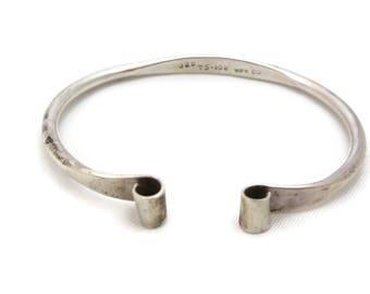 Sterling Silver Cuff Bracelet - Mexican Silver Organic Modern Taxco Jewelry