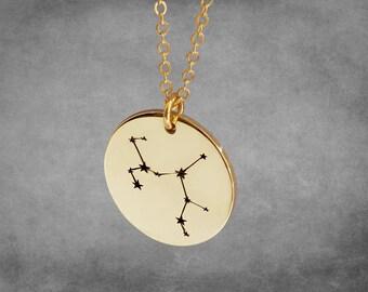 Zodiac Necklace, Zodiac Jewelry, Zodiac Sign Necklace, Constellation Necklace, Astrology Necklace, Astrology Jewelry - 24K Gold Plated
