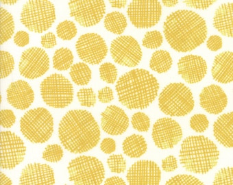 Midnight Garden Fabric // Gold Gridded Dots Quilting Fabric  // 1canoe2 // cotton quilting