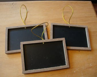 Mini chalkboard signs ornaments wood framed rustic wedding crafts supplies party favors custom signs