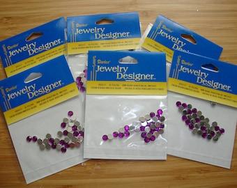 purple flatback rhinestones 5mm jewelry hat and hair embellishments paper crafting supplies Scrapbooking gems kids crafts nail art