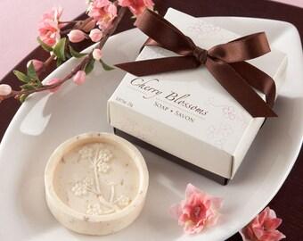 Cherry Blossom Soap Bridal Shower Wedding Favors