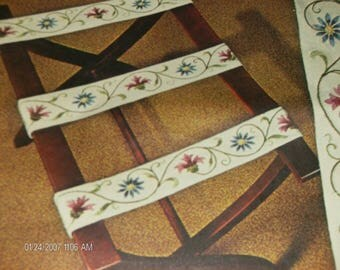 Vintage Elsa Williams Crewel Kit Luggage Bands  or Belts or Curtain Tie Backs KC 734