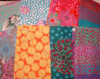 Clearance! 8 FQ Kaffe Fassett and Phillip Jacobs fabrics 8 Fat Quarters