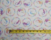 Unicorn Magic Horses Pastel Stars on White  BY YARDS Northcott Cotton  Fabric