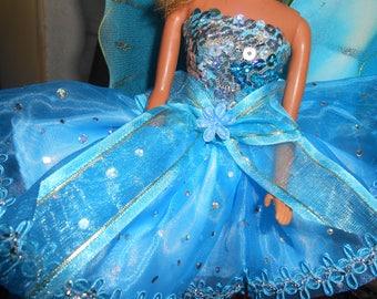 Fairy Dress for Barbie-Original Design Handcrafted New
