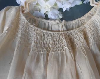 Antique Child's Sleep Wear Gown  or Dress -Vintage Handsewn era 1940-