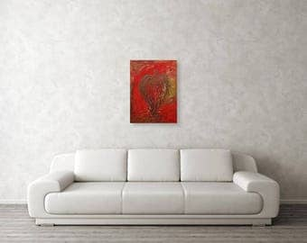 """JADED ANGEL - Original Art 18"""" x 24"""" Modern, Contemporary, Surreal, Acrylic on Stretched Canvas, Painting by Marianna Mills"""