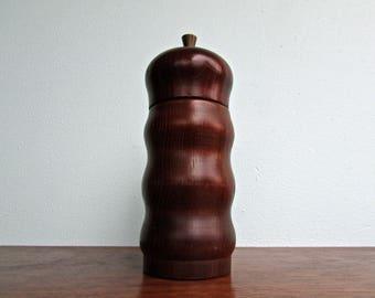 Mid Century Danish Modern Pepper Grinder, Stainless Steel & Rosewood