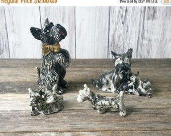 SALE Black Scottie Dogs Black dogs Dog figurines set of dogs small dogs vintage dogs Japan