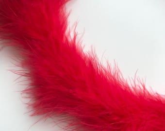 MARABOU Feather Boa / Elmo Red  / BOA - 011