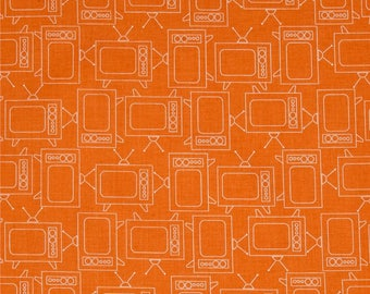 FABRIC Fat Quarter GINGHAM Bee Basics ORANGE Televisions TVs Fat Quarter    We combine shipping