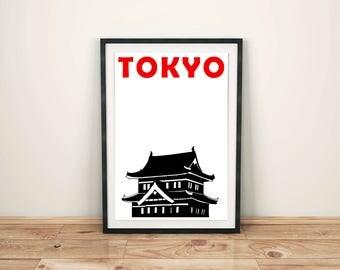 Tokyo Print // Japanese Print // Tokyo Poster // Japanese Art // Japan Art // Tokyo Art // Japanese Gifts // Japanese Poster // Gift for Men