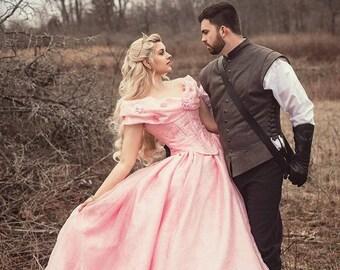 Sale! Pink Sparkle Cinderella Fantasy Wedding Cosplay Costume gown size medium