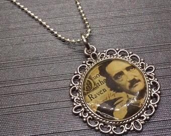 Edgar Alla Poe Art Necklace The Raven