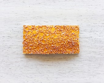 Orange Crush Glitter Snap Clip. Pizza Amore Collection. RTS
