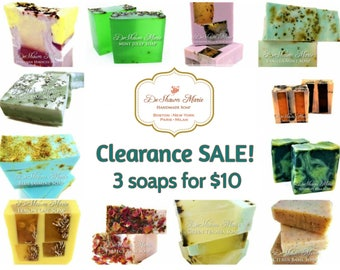 Soap sale, soap clearance, soap set, 3 soaps for 10, soap bargain, ooops soaps, discount soaps, vegan soap, natural soap, bloopers soap