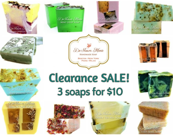 3 soaps for 10 clearance sale