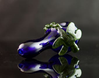 Dragonfly Glass Spoon Pipe in Cobalt Blue & Paparazzi, #539