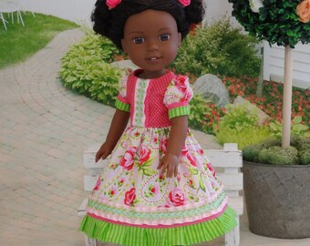 Rose Garden - Dress & shoes for Wellie Wisher doll
