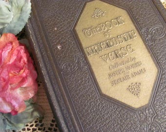 The Book of Friendship Verses Morris and Adams, Antique Book