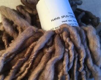 Light Brown  Handspun Merino Chunky Yarn