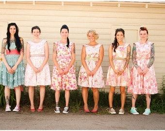 Wedding Sextet - 6 floral tea dresses for your wedding - Bridesmaids - pink lemonade