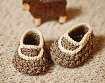 Crochet PATTERN - Little Lamb Loafers