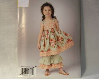 Uncut Simplicity Pattern 1533 Child's Dress and Pants