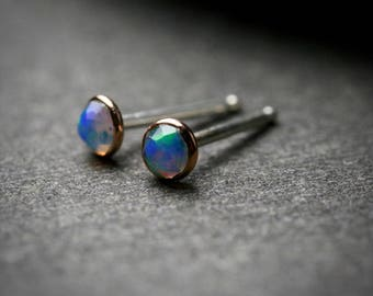Final payment 2/2 3mm faceted opal earrings for Max
