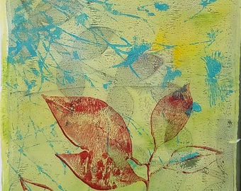 Monoprint No.3, botanical original art