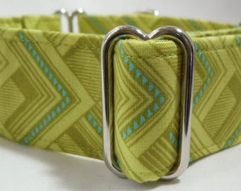 Lime or Blue Mighty Corners Greyhound, Whippet, Dog, Pit Bull, Doberman, Galgo Martingale Collar