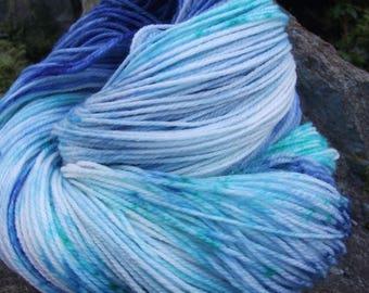 Handpainted sock yarn, fingerling yarn, Superwash Merino  Nylon, 100 grams-Poseidon