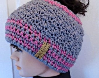 crochet pattern, Messy Bun hat or Beanie Hat,  2 yrs to adult- gift for children, adult, baby, ok to sell them, women's accessories, #2086