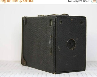 ON SALE Vintage Box CAMERA- Photography Equipment- Industrial Design- Antique Camera- Vintage Decor- Photo Prop- H19
