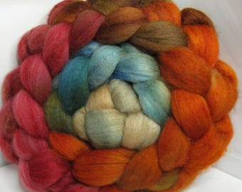 Polwarth/Baby Camel/Bombyx 50/25/25 Roving Combed Top - 5oz - Chinese Pheasant 1