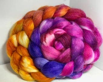 Spinning Fiber Merino SW/Bombyx/Mohair 70/15/15 - 5oz - Eagle Claw Cactus Bloom 2