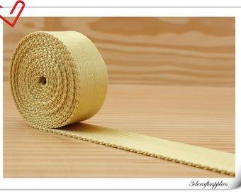 5 yards of 1 inch (25mm) Heavy weight Nylon webbing Light Golden yellow  ZA65