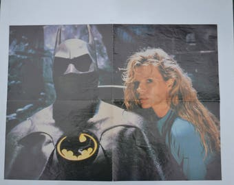 "Vintage 1989 Double-Sided Movie Poster, ""Batman"" & ""Young Einstein"""