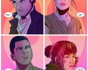 """The Last Jedi """"We are the Spark"""" Giclee Print(s)"""