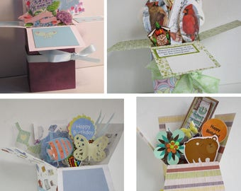 Handmade Birthday - Just  one left - Pop Up Exploding Box Card Free Shipping USA