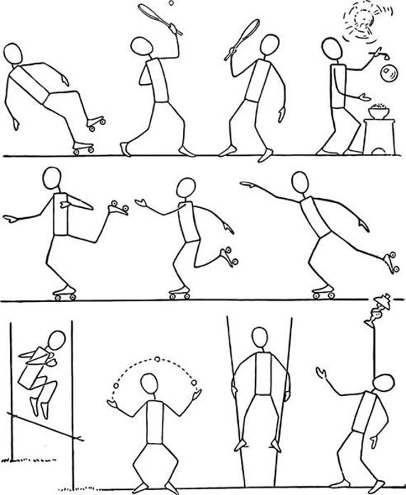 How to draw people in action stick figures drawing illustration digital download image graphics craft art printables
