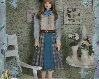 Jiajia Doll limited 4 pieces English Afternoon Tea set in blue for Momoko Misaki Azone Ruruko Dorandoran Fashion Royalty Barbie