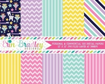 80% OFF SALE Tooth Fairy Digital Paper Pack Personal & Commercial Use Instant Download
