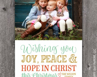 Hope in Christ - DIGITAL Custom Christmas Holiday Photo Card